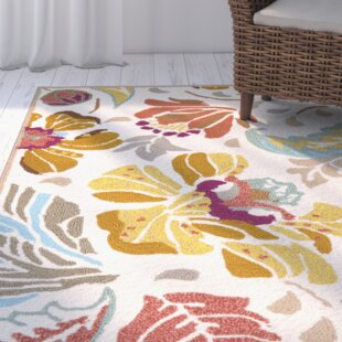 Doyle Hand-Hooked Yellow Indoor/Outdoor Area Rug