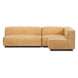 Cleon Medium Leather Sectional Sofa by Blu Dot