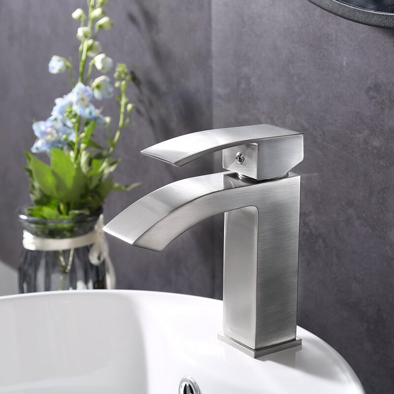 Aquaterior Modern Single Hole Faucet Bathroom Faucet Reviews Wayfair