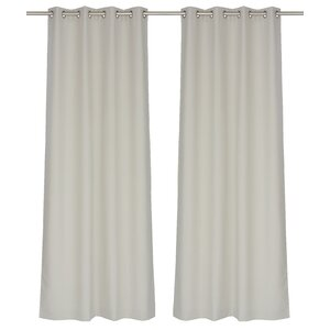 Lianne Solid Semi Sheer Grommet Panel Pair (Set of 2)