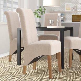 Sebeka Oak Upholstered Dining Chair (Set Of 2) By Mercury Row