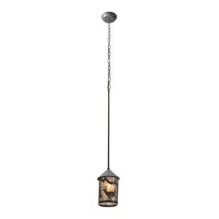 Meyda Tiffany Lone Deer 1-Light Lantern Pendant