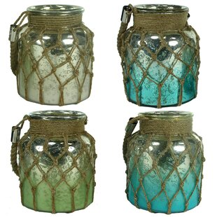 Glass Lantern (Set of 4) by Highland Dunes