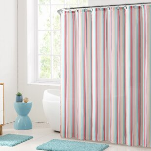 white curtain fabric inches shower ticking and kitchen modern com amazon unique black striped dp home designer