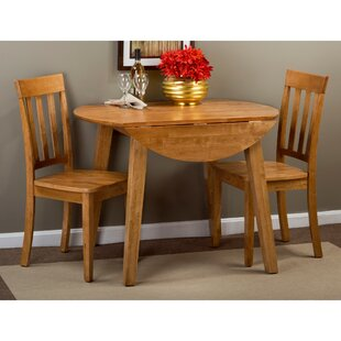 Wallis 3 Piece Drop Leaf Solid Wood Dining Set August Grove