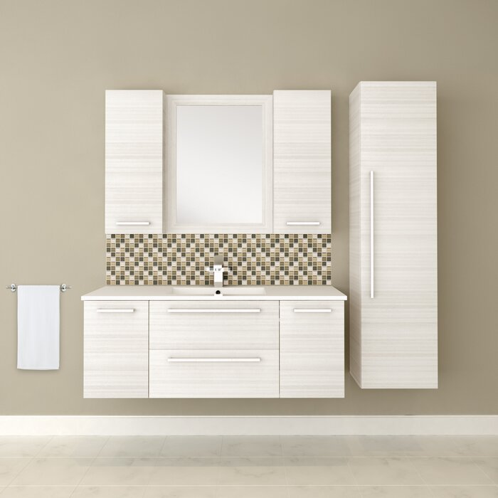 silhouette in cutler wall the bath mine kitchen vanity hung top pin with collection