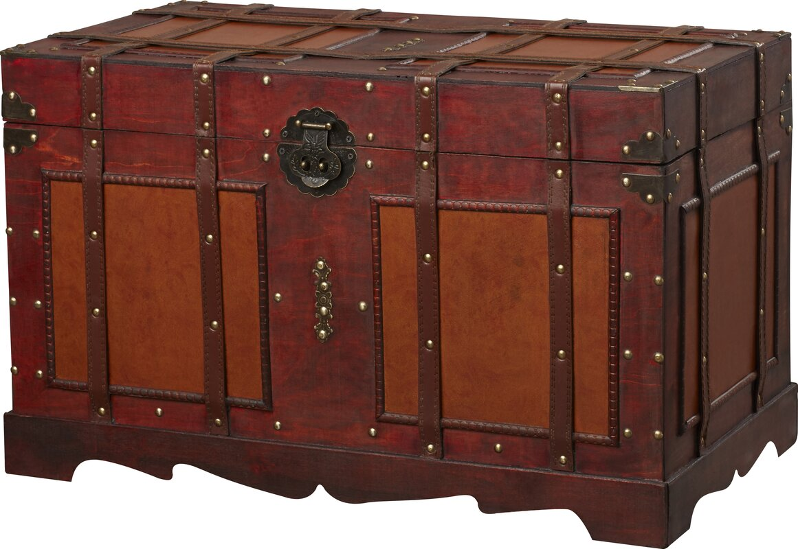 Steamer Trunk Furniture World Menagerie Zemrane Antique Style Steamer Trunk Reviews
