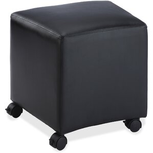 Mobile Leather Ottoman by Lorell