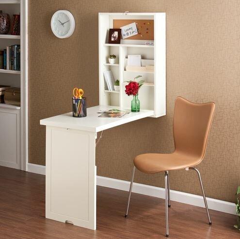 latitude run turrella wall mounted floating desk reviews wayfair rh wayfair com wall mounted floating desk with storage white wall mounted floating desk plans