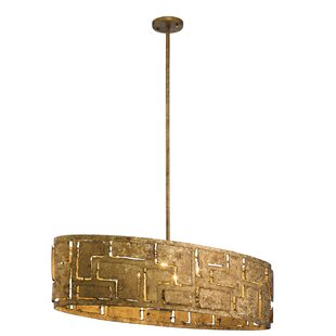 Everly Quinn Kinman Oval 6-Light Geometric Chandelier