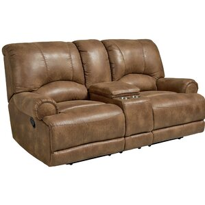 Leiters Manual Motion Reclining Loveseat by Andover Mills