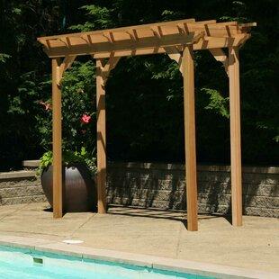 Cedar New Dawn 10 Ft. W x 3 Ft. D Solid Wood Pergola by Creekvine Designs