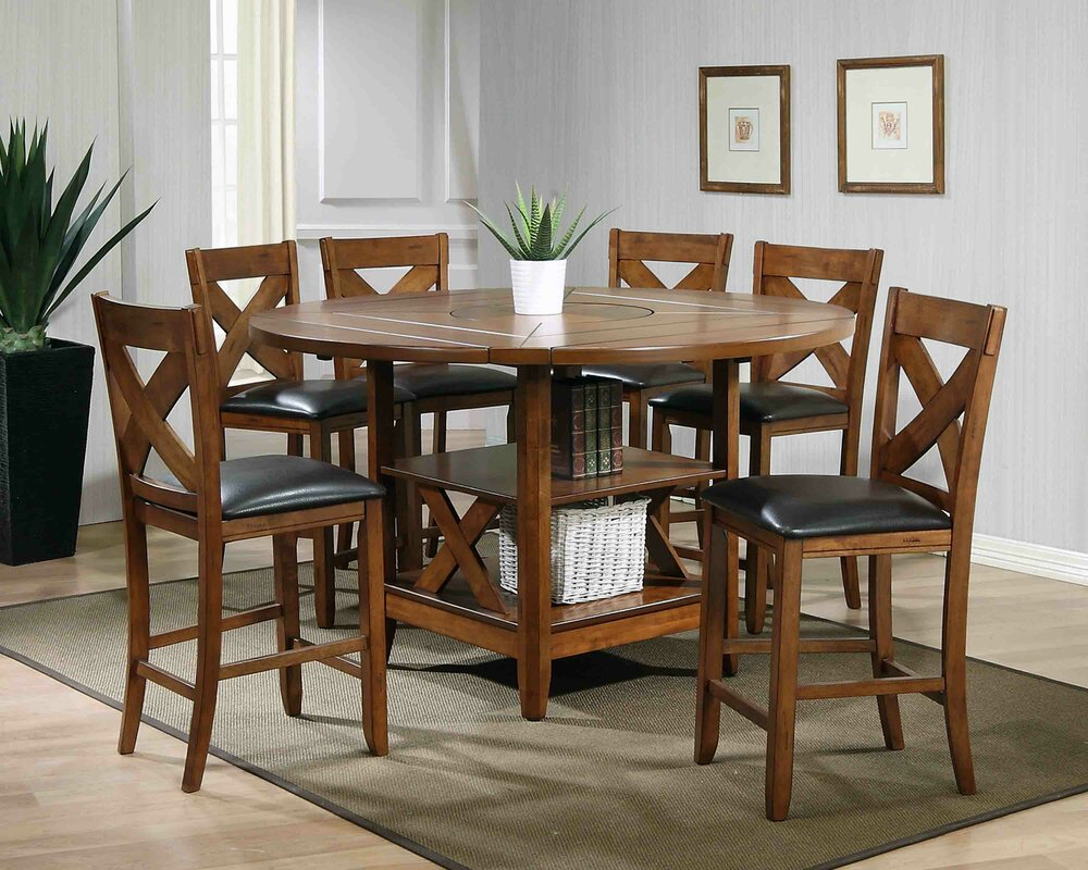 Lodge 7 Piece Counter Height Dining Set