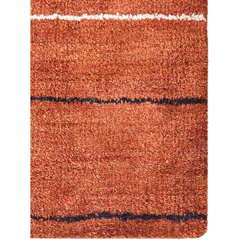 Union Rustic Paisleigh Abstract Hand Knotted Silk Rust Area Rug Wayfair
