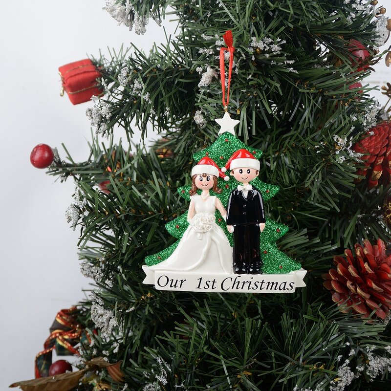 The Holiday Aisle First Christmas Couple Personalized Hanging Figurine Ornament Reviews Wayfair