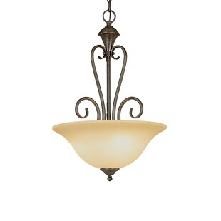 Fleur De Lis Living Birchview 3-Light Bowl Pendant