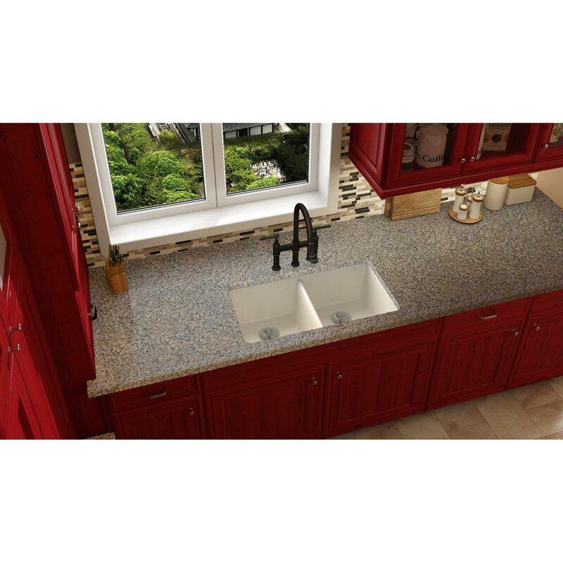 Red Kitchen Sink Elkay quartz luxe 33 x 19 double basin undermount kitchen sink quartz luxe 33 x 19 double basin undermount kitchen sink workwithnaturefo