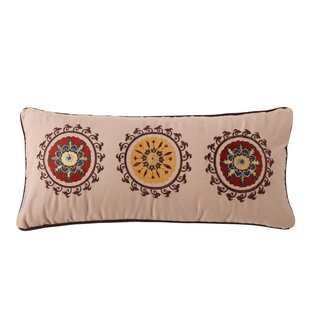 Zahara Embroidered Cotton Boudoir Pillow