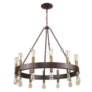 Amia 24-Light Wagon Wheel Chandelier