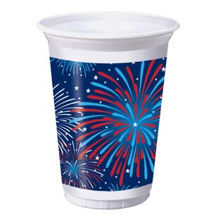 Patriotic Party Plastic Disposable Every Day Cup (Set of 24)