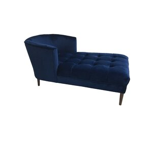 Caleigh Mistral Velvet Chaise Lounge by Rosdorf Park