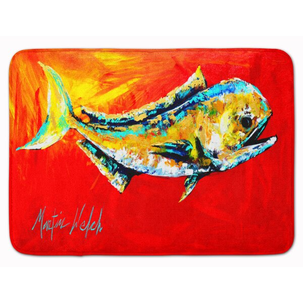 East Urban Home Dolphin Fish Danny Rectangle Microfiber Non Slip Bath Rug Wayfair