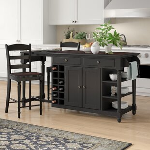 Kidd 3 Piece Kitchen Island Set Birch Lane&trade