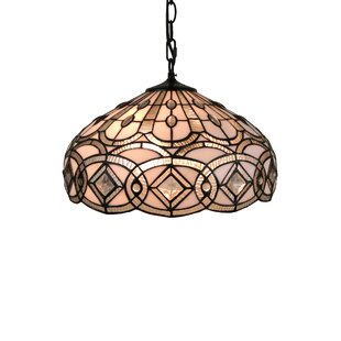 Amora Lighting Tiffany Style 2-Light Pendant