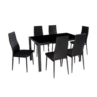 Ebern Designs Haris 7 Piece Breakfast Nook Dining Set