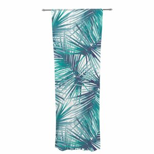 Danii Pollehn Palm Tree Branches Nature / Floral Sheer Rod Pocket Curtain Panels (Set of 2)