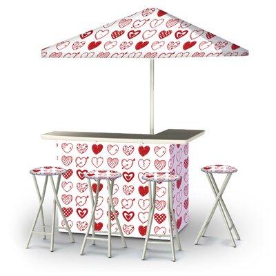 Zakaryan Valentines Hearts 6-Piece Bar Set by East Urban Home Amazing