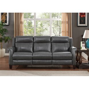 Guyette Leather Reclining Sofa..
