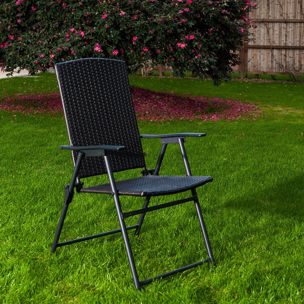 Fabulous Flannery Folding Patio Dining Chair Short Links Chair Design For Home Short Linksinfo