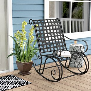 Saundra Iron Outdoor Patio Rocker