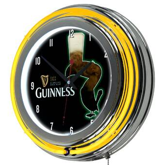 Guinness  Wall clock  Great gift can be Personalised Free