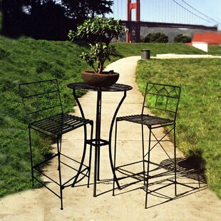 17 Stories Marc-Antoine 3 Piece Dining Set