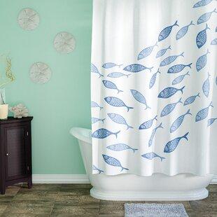 Cedarville Polyester Coastal Shower Curtain ByHighland Dunes