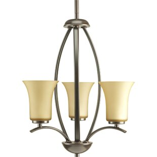 Red Barrel Studio Jilliann Contemporary 3-Light Shaded Chandelier