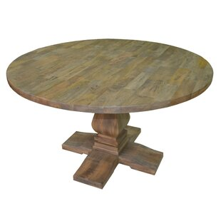 Darby Home Co Tekla Round Solid Wood Dini..
