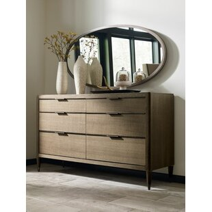 Hamden 6 Drawer Double Dresser with Mirror