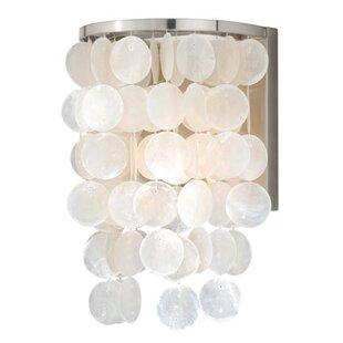 Capiz shell ceiling light wayfair kym capiz shell wall light aloadofball Gallery