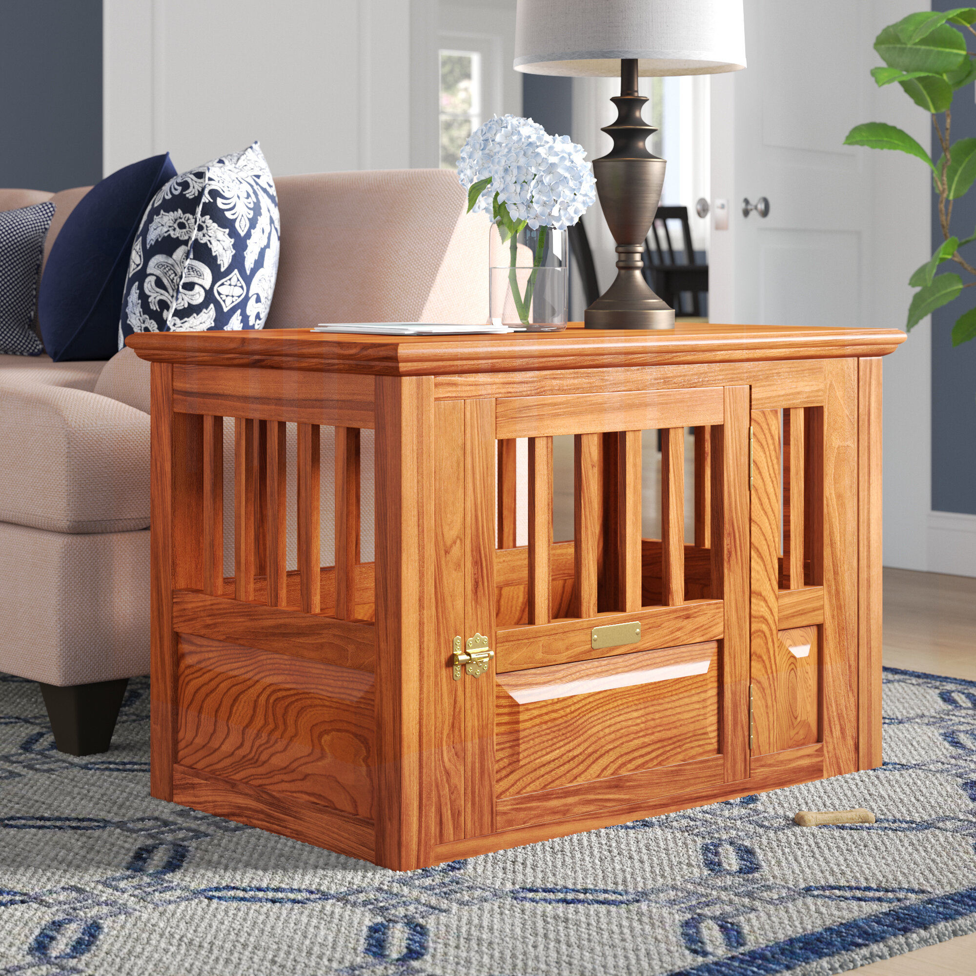 Bon Archie U0026 Oscar Dixie Handmade Furniture Style Pet Crate U0026 Reviews | Wayfair