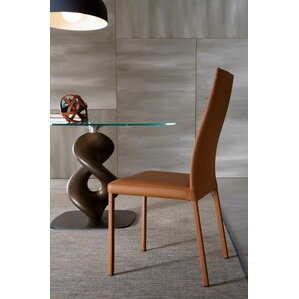 Bali Genuine Leather Upholstered Dining Chair by YumanMod