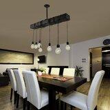 8-Light Kitchen Island Bulb Pendant