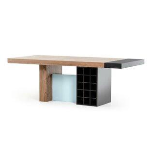 Orren Ellis Camron Modern Wood Top Dining..