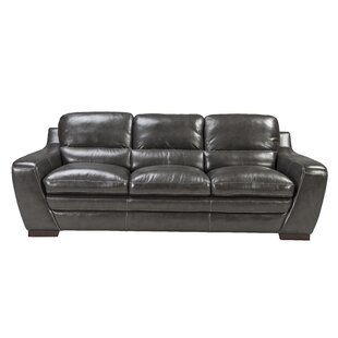 Diedrich Leather Sofa by Red Barrel Studio