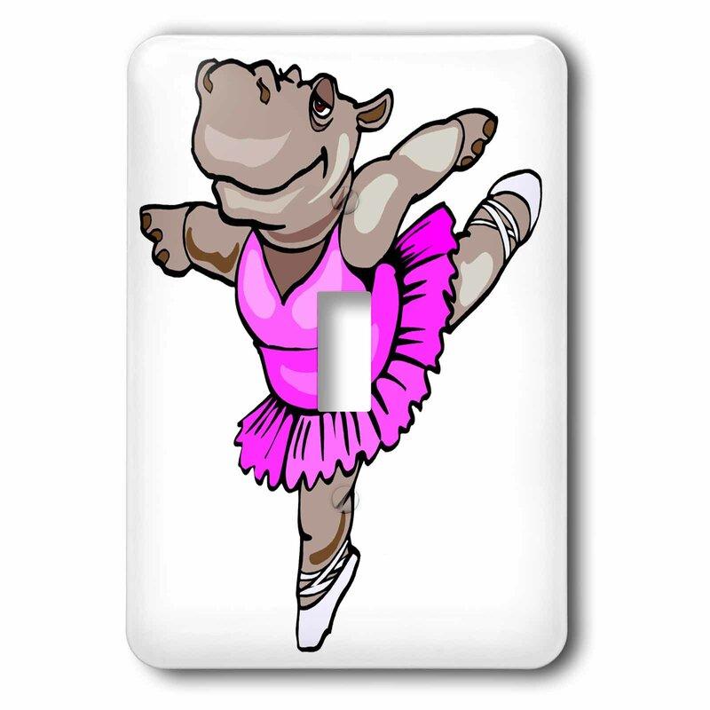 3drose Hippo Ballet Dancer 1 Gang Toggle Light Switch Wall Plate Wayfair