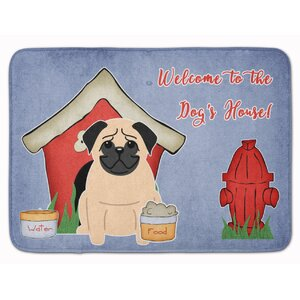 Dog House Pug Memory Foam Bath Rug