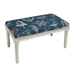 Breakwater Bay West Line Nautical Wood Bench