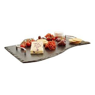 50cm Wave Slate Tray by Platters Slate